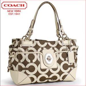 Coach Peyton op art signature carry all bag
